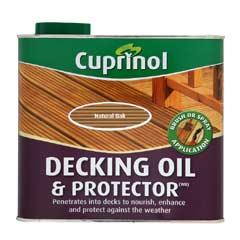 Cuprinol UV Guard Decking Oil - Natural Oak 2.5 Litre