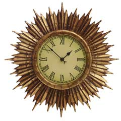 Gardman Traditional Sunburst Garden Clock