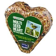 Gardman Wild Bird Multi Seed Heart 200g