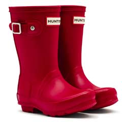 Image of Hunter Original Kids Wellies - Military Red