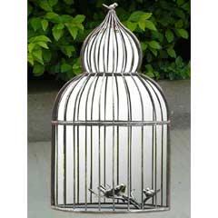 Greenfingers Ornate Birdcage Garden Mirror