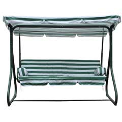 Greenfingers Deluxe 3 Seater Padded Swing Bed
