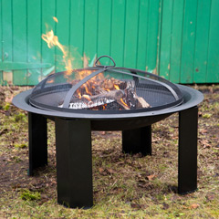 Greenfingers Round Fire Pit with Grill 30in