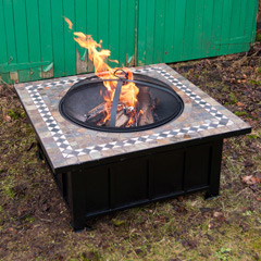 Ellister Square Mosaic Fire Pit Table 36in