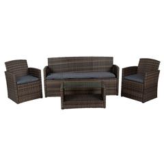Greenfingers Moncafa 4 Seater Rattan Sofa Set