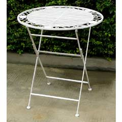 Greenfingers Atlanta Wrought Iron 70cm Folding Patio Table