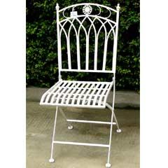 Greenfingers Atlanta Folding Patio Chair - White